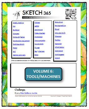 Interactive Sketch List: Daily Sketch/Drawing/Art Activity V6of10:Tools/Machines