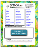 Interactive Sketch List: Daily Sketch/Drawing/Art Activity V7of10:Items