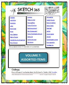 Interactive Sketch List: Daily Sketch/Drawing/Art Activity