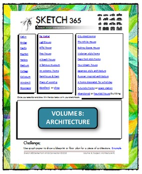Interactive Sketch List: Daily Sketch/Drawing/Art Activity V8of10:Architecture