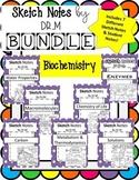 Sketch Notes BIOCHEMISTRY BUNDLE! W/Teacher's Guide & Stud