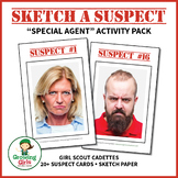 "Sketch a Suspect - Girl Scout Cadette ""Special Agent"" (Step 5) Activity Pack"