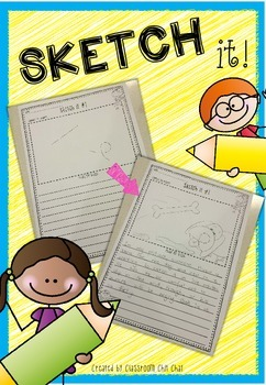Sketch it - Creative Writing and Drawing Sheets