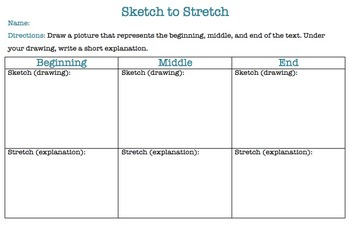 Sketch to Stretch Graphic Organizer