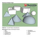 SketchUp 3D Model Project Create 10 Shapes PBL STEM
