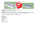 SketchUp 3D Model Project Create a Nametag PBL STEM
