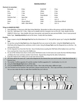 SketchUp 3D Modeling Activity 0 (Dice)