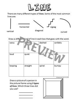 Sketchbook Activities Using the Elements of Art