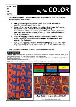 Sketchbook Assignment:  Alpha Color