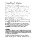 Sketchbook Assignment Calendar