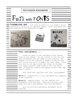 "Sketchbook Assignment: ""Fun with Fonts"""