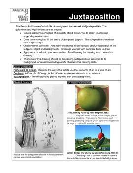 Sketchbook Assignment:  Juxtaposition
