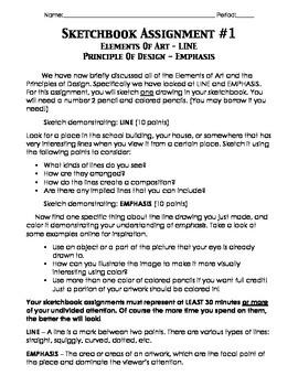 Sketchbook Assignment - Line & Emphasis