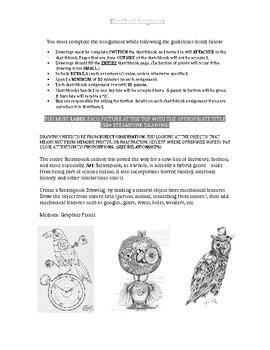 Sketchbook Assignment Steampunk