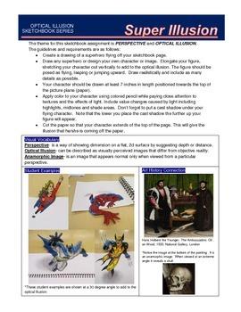 Sketchbook Assignment: Superhero Illusion