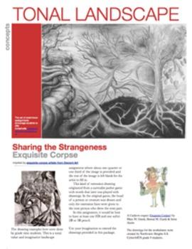 Sketchbook Assignment:Tonal Landscape - Exquisite Corpse