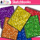 Rainbow Glitter Sketchbook Clip Art: Art Supply Graphics {Glitter Meets Glue}