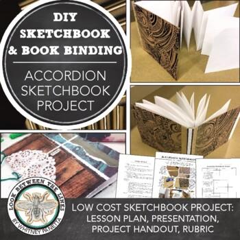 Sketchbook: Design Your Own Accordion Sketchbook for Middle or High School Art