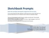 Sketchbook Drawing Prompts 2