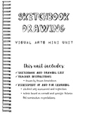 Sketchbook Drawing Junior/Intermediate Visual Arts Unit