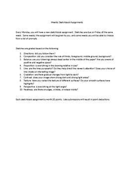 Sketchbook Grading Policy