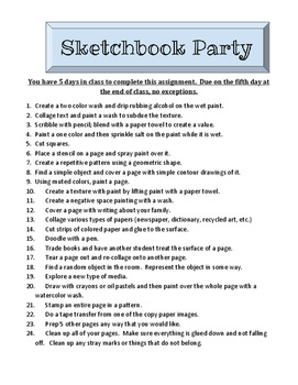Sketchbook Party