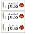 Sketchbook Pass Printables