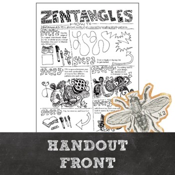 Middle School or High School Mini Art Lesson: Zentangle Doodle How To