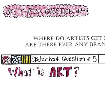 Sketchbook Warm-up Prompts Workbook