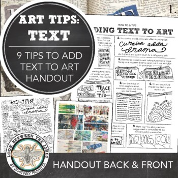 Sketchbook or Visual Journal Guide: How to Incorporate Tex