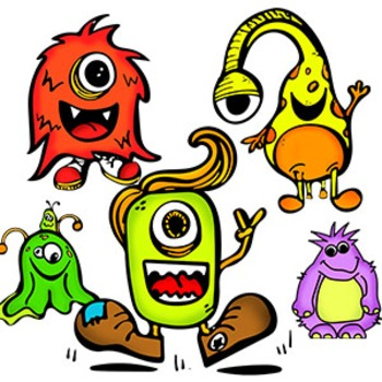 Sketched Monster Clipart Freebies {Watson Works Clip Art/Graphics}