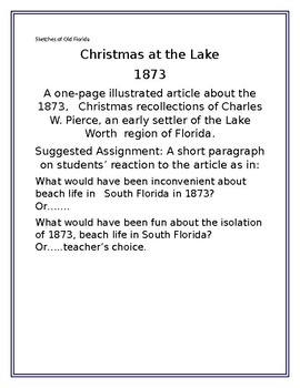 Sketches of Old Florida:  Christmas at the Lake
