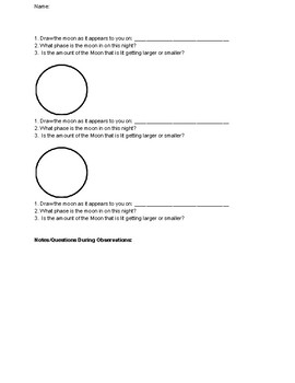 Sketching Moon Phases