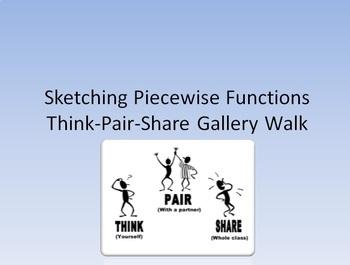 Sketching Piecewise Functions Gallery Walk
