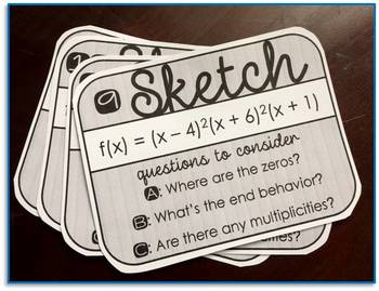 Sketching Polynomials Task Cards