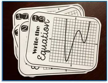 Sketching Polynomial Functions Task Cards