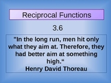 Sketching Reciprocal  Functions