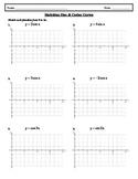 Sketching Sine and Cosine Curves Worksheet