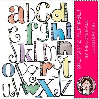 Sketchitz Alphabet by Melonheadz
