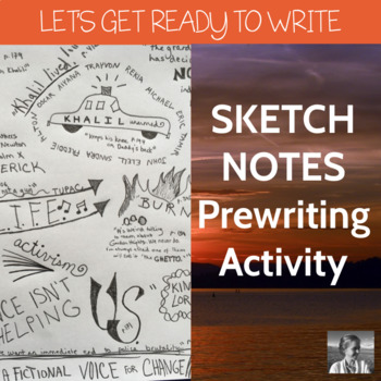 Sketchnotes Prewriting Activity