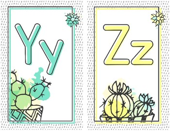 Sketchy Cacti Collection: Alphabet Posters