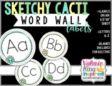 Sketchy Cacti Collection: Word Wall Labels