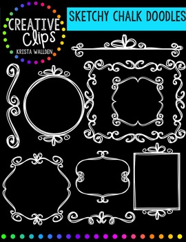 Sketchy Chalk Doodles {Creative Clips Digital Clipart}