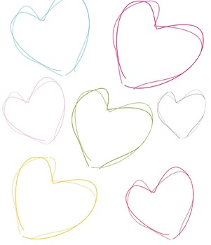 Sketchy Hearts Clip Art, heart sketches , Mother's day, Valentine's Day