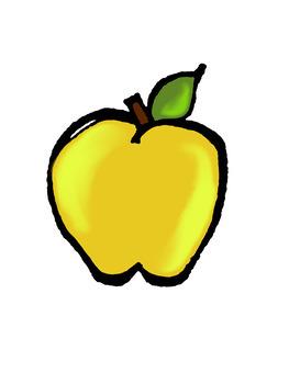 Sketchy Painted Apples