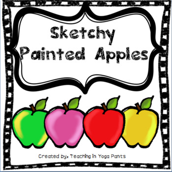 Sketchy Painted Apples