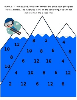 Ski Down the Mountain - Winter Olympics Math Games