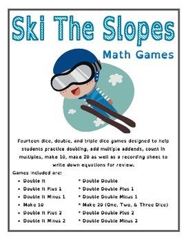 Ski Down the Mountain - Winter Olympics Math Games