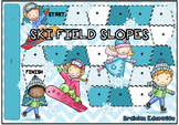 Ski Fields Blank Board Game (EDITABLE)