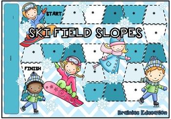 Ski Fields Blank Board Game (EDITABLE)